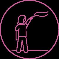 Icoon website Mural